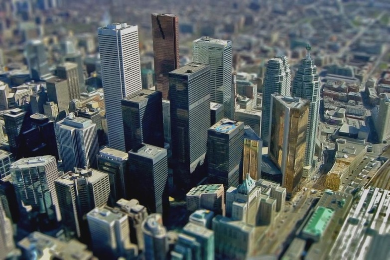 Very Small Downtown Toronto by Roland Peschetz