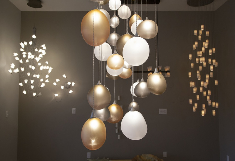 AM studio chandeliers detail