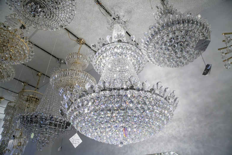 Lighting Originals large crystal chandelier