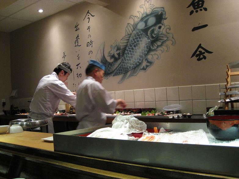 Sushi Kaji Chefs in Action by Miyuki Mouse