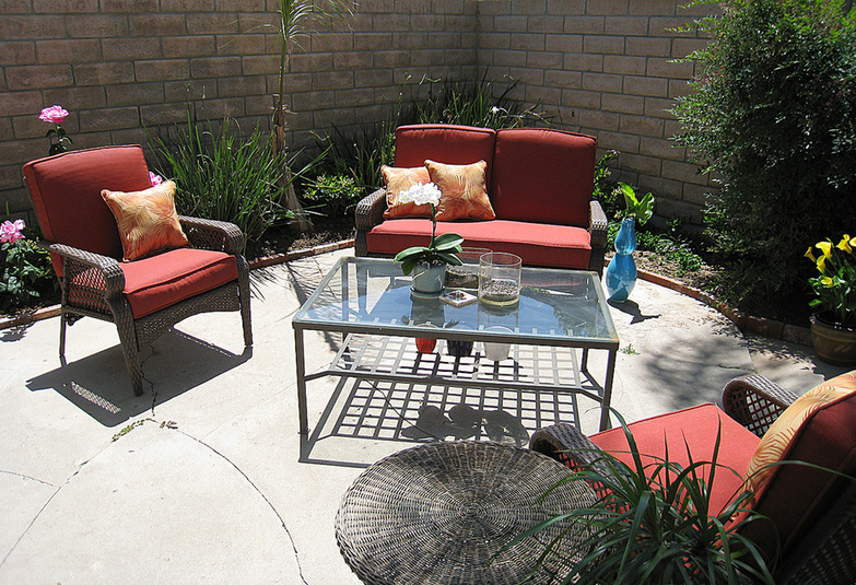 Backyard Living Space by Maegan Tintari