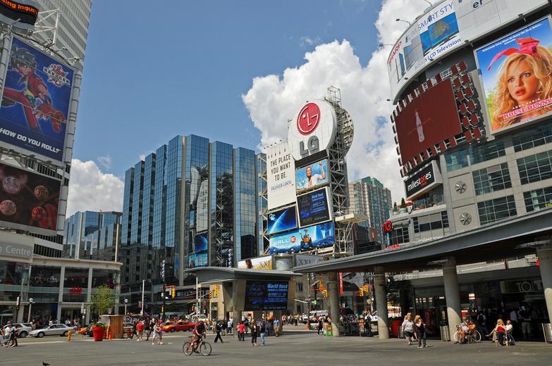 Yonge Dundas Square Toronto by Dennis Jarvis