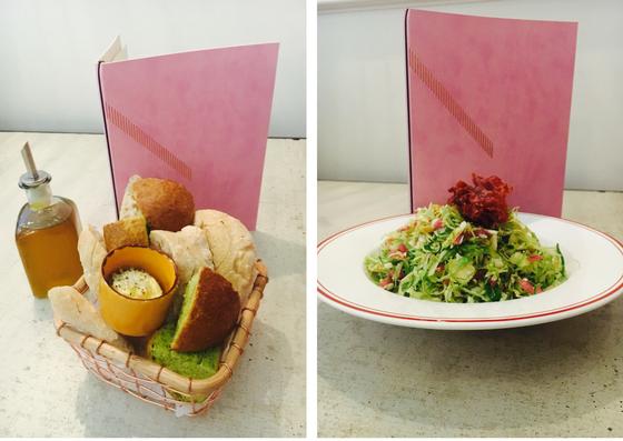 Pane e Olio and Cavoletti salad