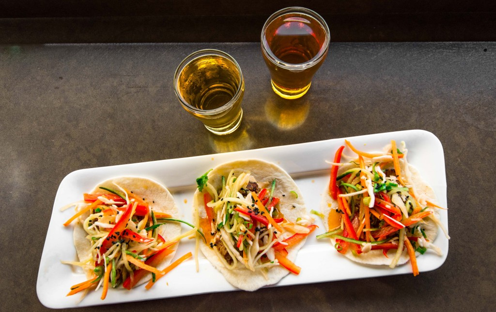Tacos go great with lighter beer