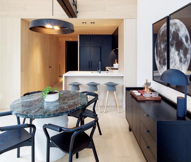 Cabin sample apartment by Mason Studio